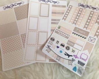 Coffee Cake Date Weekly Planner Sticker Kit | Erin Condren & Plum Paper Planner