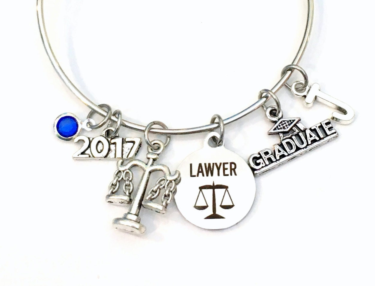 law school graduation gift 2017 2018 lawyer charm bracelet