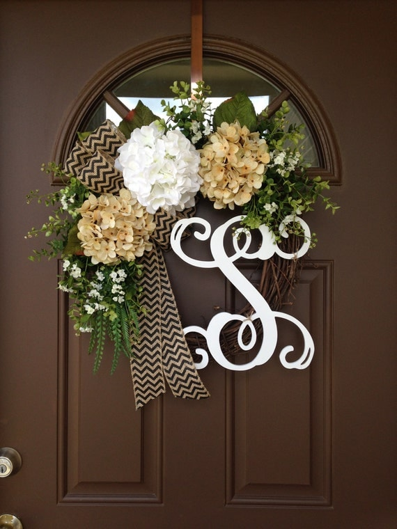 Items Similar To Year Round Door Grapevine Wreath Spring