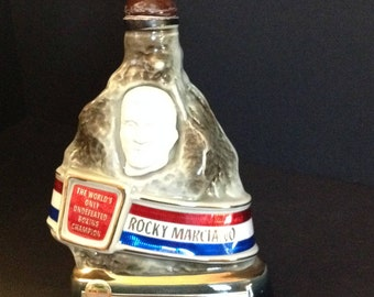 "1973 Jim Beam ""Rocky Marciano"" Decanter by C. Miller for Regal China"