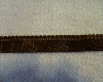 "1"" Brush Fringe  Brown  #FRB 388-B  11 Yards"