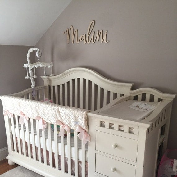 Amelia S Room Toddler Bedroom: Nursery Name Sign For Baby Bedroom Wall Decor Wooden Letters