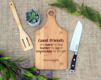 Friends Custom Paddle Board, Friendship quote, Friend gift, Friendship present, Custom Cutting Board,Personalized cutting board,cheese board
