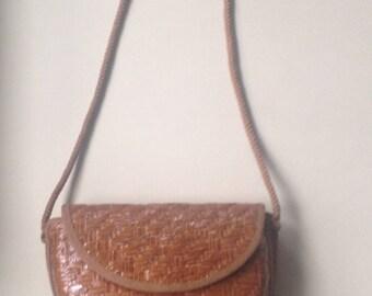 Handbag in Italy, hand bag made in Italy rattan, rattan,
