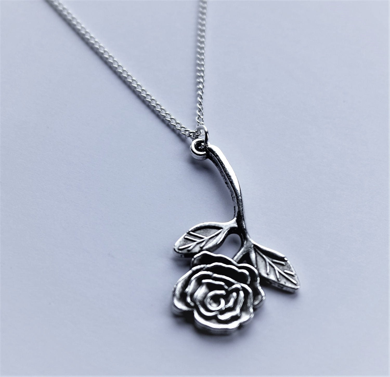 beauty and the beast necklace rose necklace beauty and the