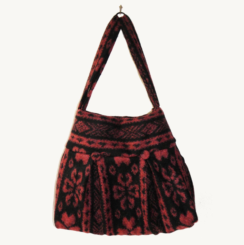Borse Di Stoffa Fatte In Casa : Borsa donna borse fatte a mano tessuto di lana per