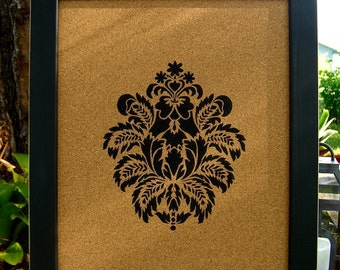 Nice Cork Board,Cork Memo Board,Office Organization,Fleur De Lis Decor,Sorority