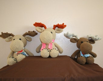 Handmade Crocheted Stuffed Moose