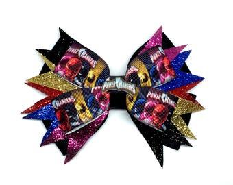 Power Rangers Hair Bow