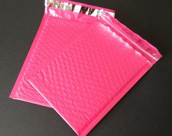 20 6x9 Hot Pink  Bubble Mailers Size 0 Self Sealing Shipping Envelopes Valentine Spring Easter