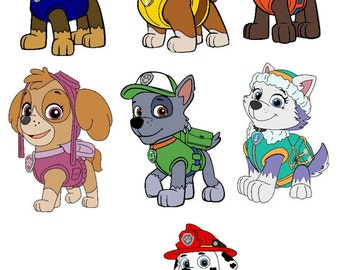 Paw Patrol svg, Disney svg, Paw Patrol files, Paw Patrol Cricut, Birthday, SVG files for Cricut, SVG files for Cameo, SVG files, dog svg