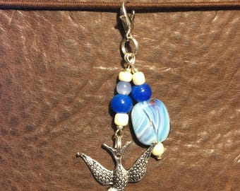 Swallow Planner Charm (Blue)