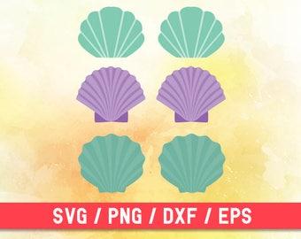 Mermaid Shells SVG, Sea Shell SVG, Mermaid Shell PNG,  Mermaid Shell Digital, Sea Shell Clipart, Mermaid Shell Clipart, Sea Shell Cut Files