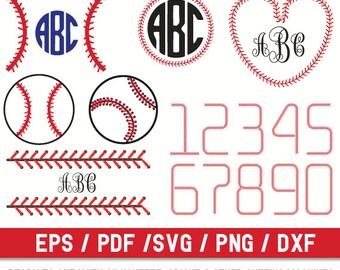 Softball Stitch svg File,Baseball Stitch svg File, Stitch svg file,Stitch Numbers svg,Baseball Cut File,Baseball Lace svg,Baseball Monogram