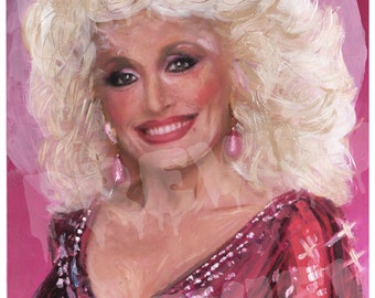 Dolly Parton Oil Painting Print