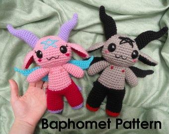 Baphomet crochet pattern