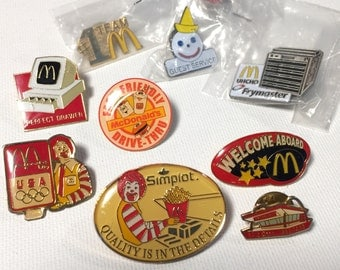 McDonald's Collectibles, McDonalds Pinbacks and more, Ronald McDonald 1988 McDonalds Pin, 1985 McDonalds Pinback, Ronald McDonald Pins, McDs