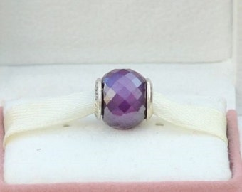 PETITE PURPLE MURANO Bead / New / s925 / Silver / Threaded / Fully Stamped