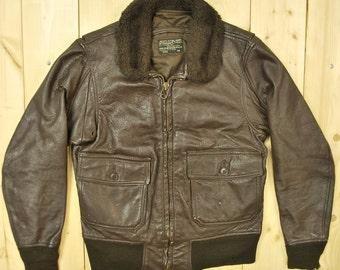 Vintage 1971 USN G1 Flight Jacket / Star Sportswear Mfg. Co. / Retro Collectable Rare