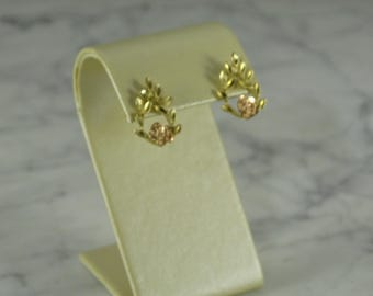 Estate 14k Rose and Yellow Gold Earrings