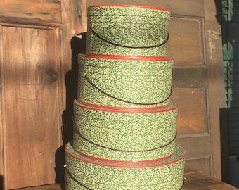 Set of Vintage Nesting Hat Boxes