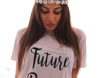 Future Bride Bachelorette Shirt - Bride top - Ladies Custom Bachelorette Party Top - He put a Ring on My hand Top - Bride T-shirt - Party