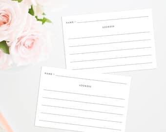 Printable Address Cards, Help the Newlyweds Make an Address Book Printable, Address Your Envelope Printable, Wedding Thank You card Address