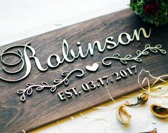 Wedding gift last name established