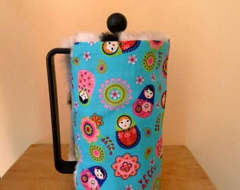 Cute Russian doll cafetiere cosy