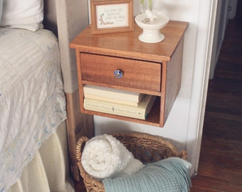 Awesome Floating Nightstand   Bedside Table   Dovetail Joinery