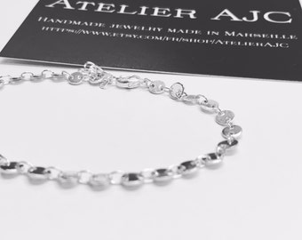 """Bracelet from our """"Refined"""" collection - silver plated / Bracelet de notre collection """"Refined"""" - plaqué argent"""