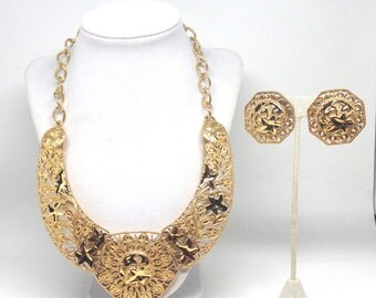 Gorgeous Jose Barrera Avon Vintage Necklace and Clip Earrings Set