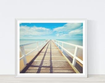 Beach Photography, Boardwalk,Coastal Print, Coastal Art, Beach Print, Beach Decor, Coastal Decor, Summer Decor, Ocean Wall Art, C8