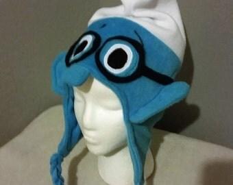 Smurf Hat/ Smurf Brainy Hat/ Children and Adult Smurf Hat/ Smurf Fleece Hat/ Smurf Winter Hat/ Great Halloween Hat