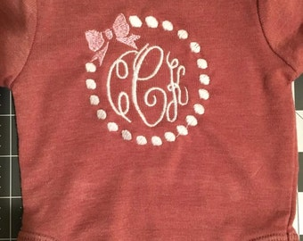 Bow and Pearl applique shirt
