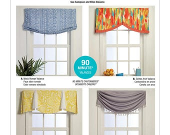 Valance patterns etsy for Professional window treatment patterns