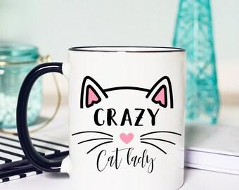 Funny Cat Lady Mug, Cat Lady Coffee Cup, Crazy Cat Lady Mug, Crazy Cat Lady, Cat Lady Coffee Mug, Crazy Cat lady Coffee Cup, Crazy Cat Lady