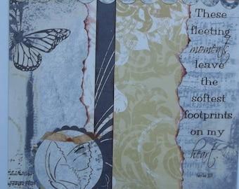 Footprints 12x12 scrapbook page; 12x12 premade page; premade scrapbook layout; 12x12 scrapbook page