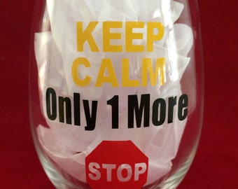 bus driver gift, Christmas gift,  bus driver appreciation, bus driver wine glass, bus driver end of year gift, stop sign glass, keep calm