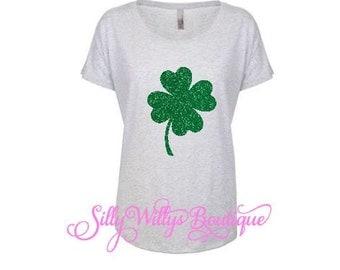 St. Patrick's Day shirt, Four leaf clover shirt, Lucky shamrock shirt, 4 leaf clover shirt, St Paddy's day shirt, Lucky clover shirt, Dolman