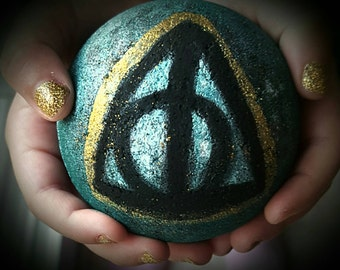 Harry Potter Inspired Bath Bomb Deathly Hallows Bath Bomb