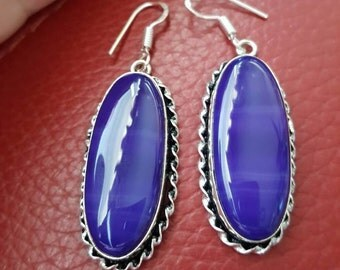 Purple/ Violet Lace Onyx Earrings!