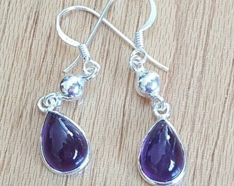 Amethyst, Amethyst Earrings, Amethyst Jewelry, Purple Earrings, Amethyst Drops, Purple Amethyst, Gemstone Earrings, Amethyst Jewellery