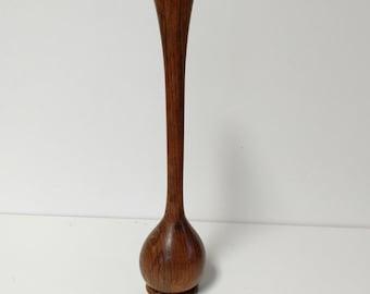 Vintage Wood Bud Vase Home Decor
