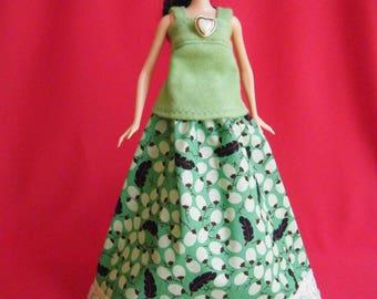 Barbie Doll Clothes, barbie skirt, barbie shirt, barbie clothes, fashion doll skirt, fashion doll outfit, barbie skirt and top