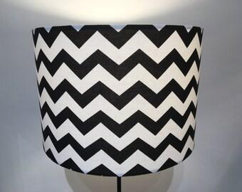 Black and white, chevron zig zag lampshade monochrome