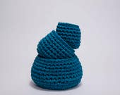 Crochet nesting baskets, storage basket set, home storage, bathroom storage, toiletry organiser, nursery storage, small eco storage