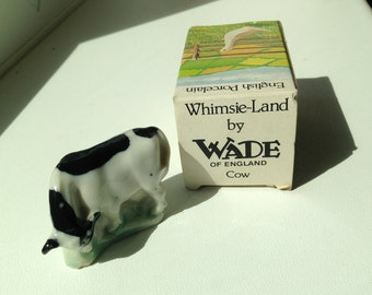 Wade Whimsie-Land Cow 1980s (Boxed)