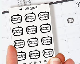 American Horror Story Planner Stickers