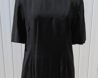 SALE 1980s black shift dress/ 1980s dress/ vintage dress